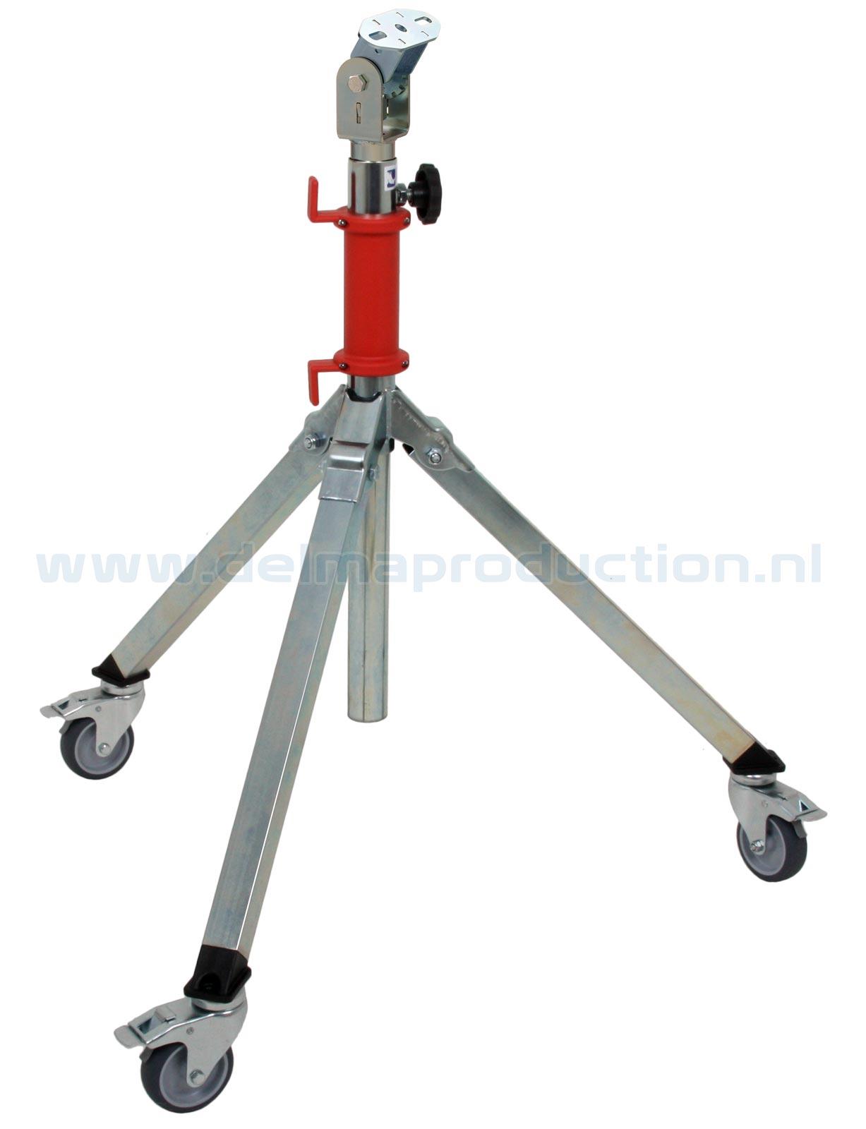 Tripod worklight stand 2-part Midi, mobile, quick adjustment