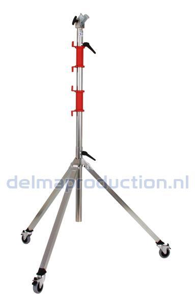 Bau-Teleskop-Stativ 3-teilig, Fahrbar, für OPUS Arbeitsleuchten