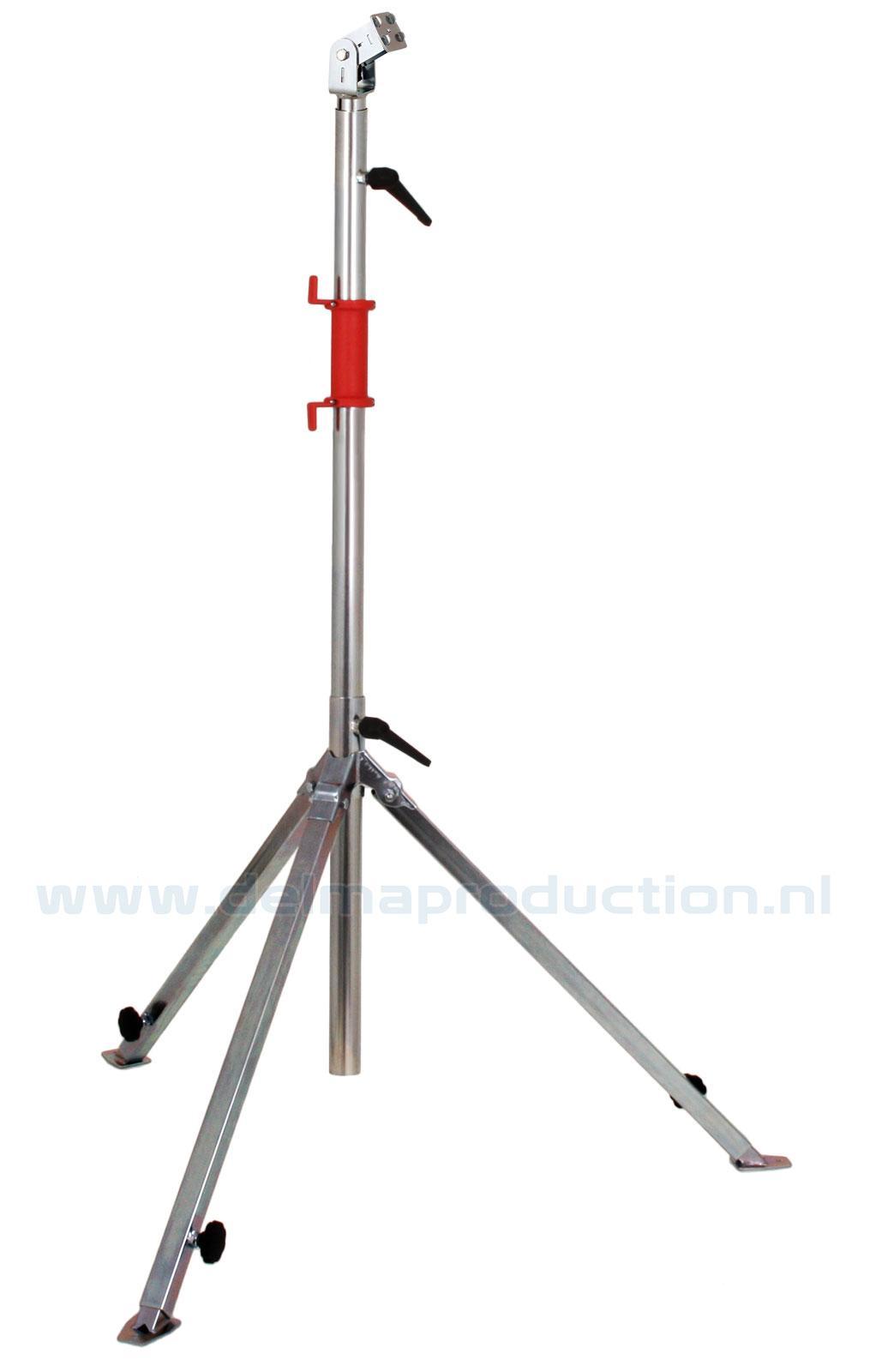 Bau-Teleskop-Stativ 3-teilig, verstellbares Fußgestell, Quick Release System