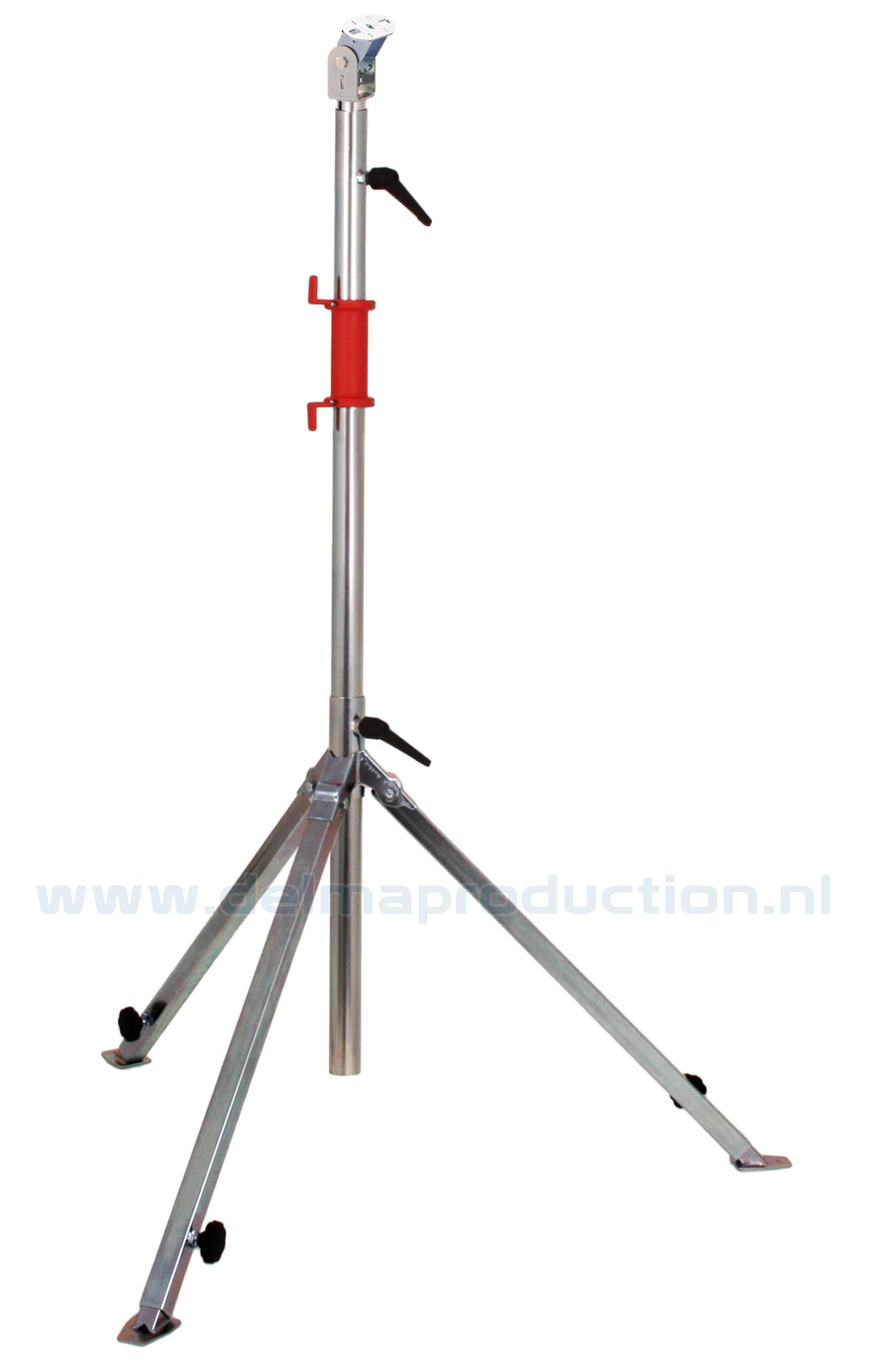 Tripod worklight stand 3-part, adjustable undercarriage, quick adjustment