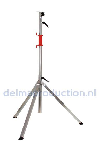 3-parts tripod stand, quick change system with bracket + M8