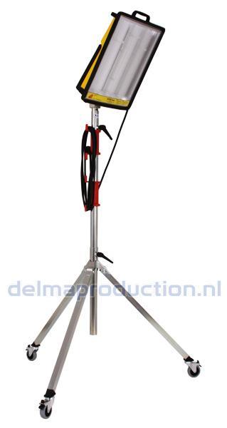 3-Teilig Fahrbar Baulamp Stativ, mit Strip + M8 Mutter  (4)