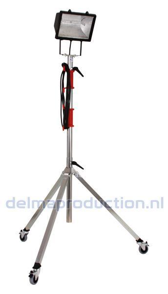 3-Teilig Fahrbar Baulamp Stativ, mit Strip + M8 Mutter  (3)