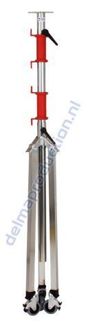3-Teilig Fahrbar Baulamp Stativ, mit Strip + M8 Mutter  (5)