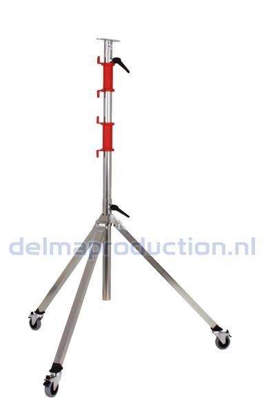 3-Teilig Fahrbar Baulamp Stativ, mit Strip + M8 Mutter  (1)