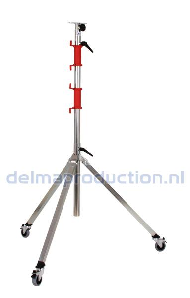 Tripod worklight stand 3-part, mobile, quick release strip