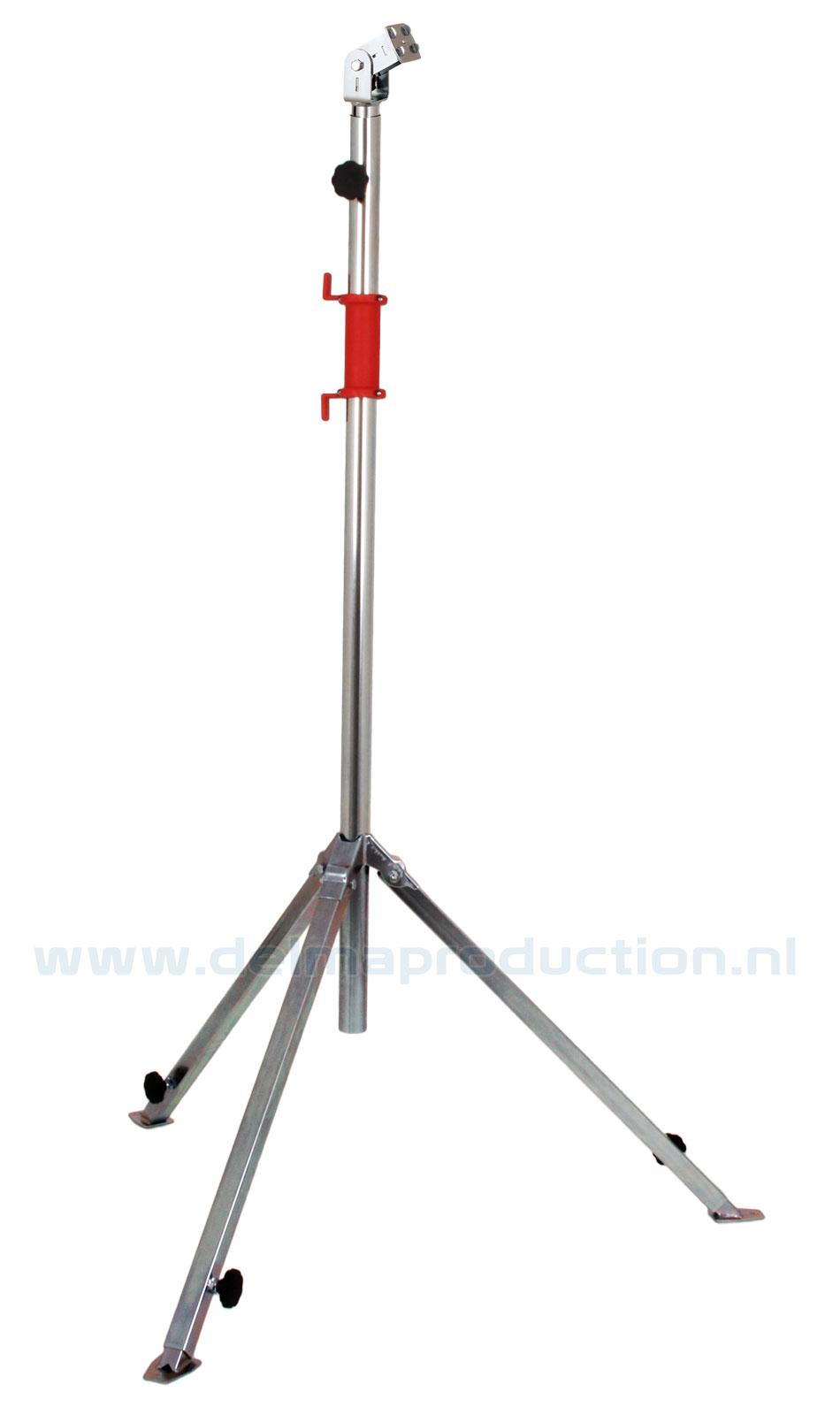 Tripod worklight stand 2-part, adjustable undercarriage, quick release system