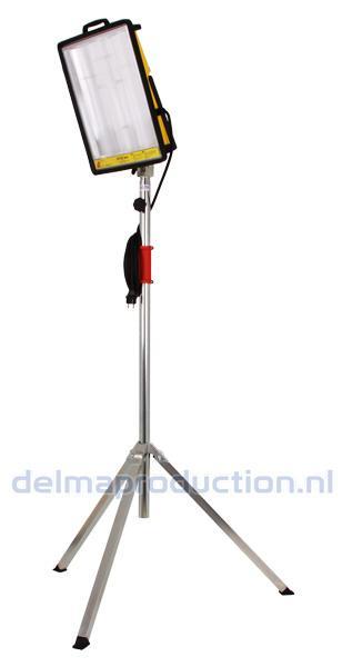 2-Teilig Baulamp Stativ, mit Strip + M8 Mutter  (4)