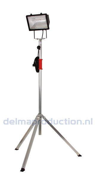 2-Teilig Baulamp Stativ, mit Strip + M8 Mutter  (3)