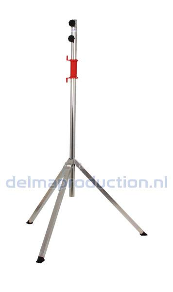 Tripod worklight stand 2-part, quick release threaded bush