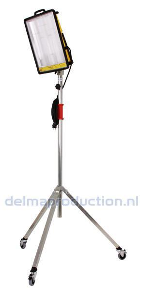 2-Teilig Fahrbar Baulamp Stativ, mit Strip + M8 Mutter  (3)