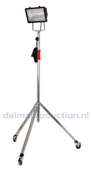 2-Teilig Fahrbar Baulamp Stativ, mit Strip + M8 Mutter  (2)