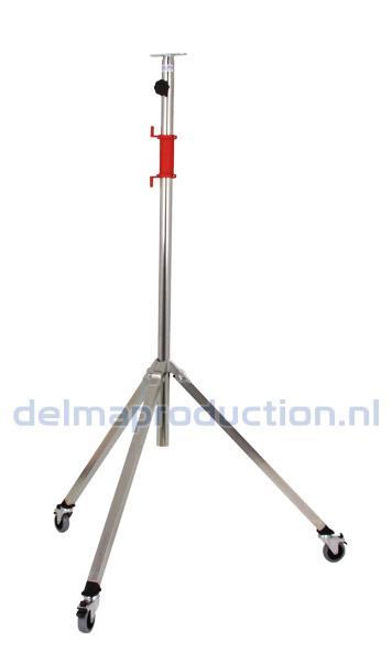 2-Teilig Fahrbar Baulamp Stativ, mit Strip + M8 Mutter  (1)
