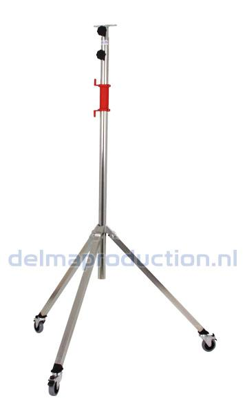 Bau-Teleskop-Stativ 2-teilig, Fahrbar, Schnellwechsel Streifen
