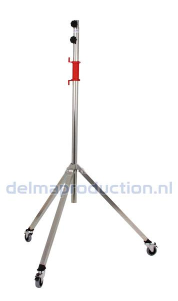 Tripod worklight stand 2-part, mobile, quick release threaded bush