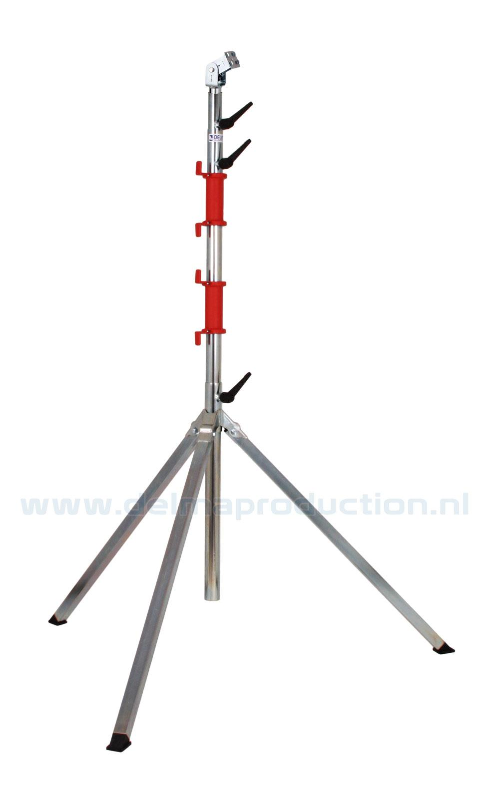 Tripod worklight stand 4-part, quick release system
