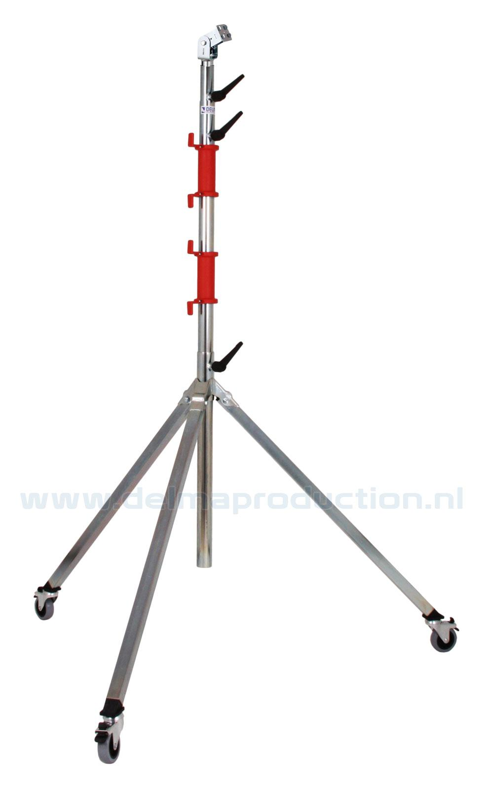 Tripod worklight stand 4-part, mobile, quick release system