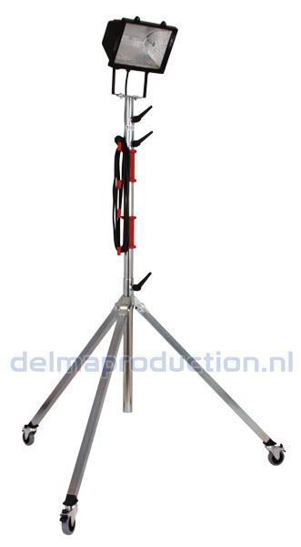 4-parts mobile tripod stand, with flat + M8 nut  (3)