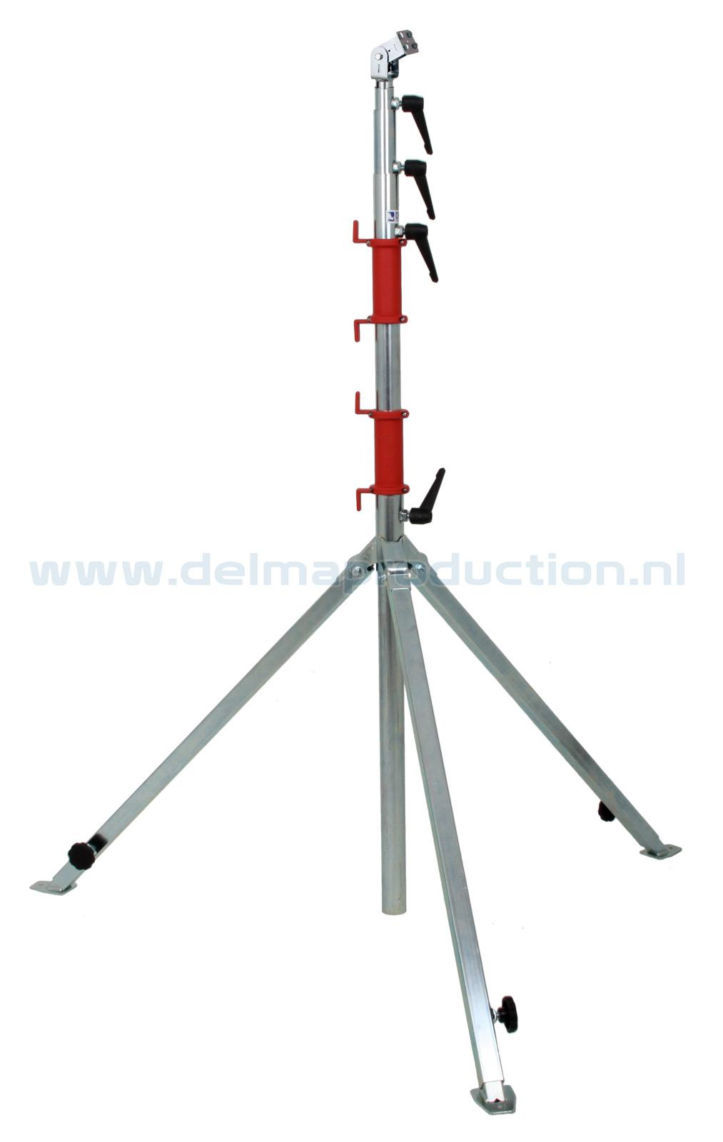 Tripod worklight stand 5-part, adjustable undercarriage, quick release system