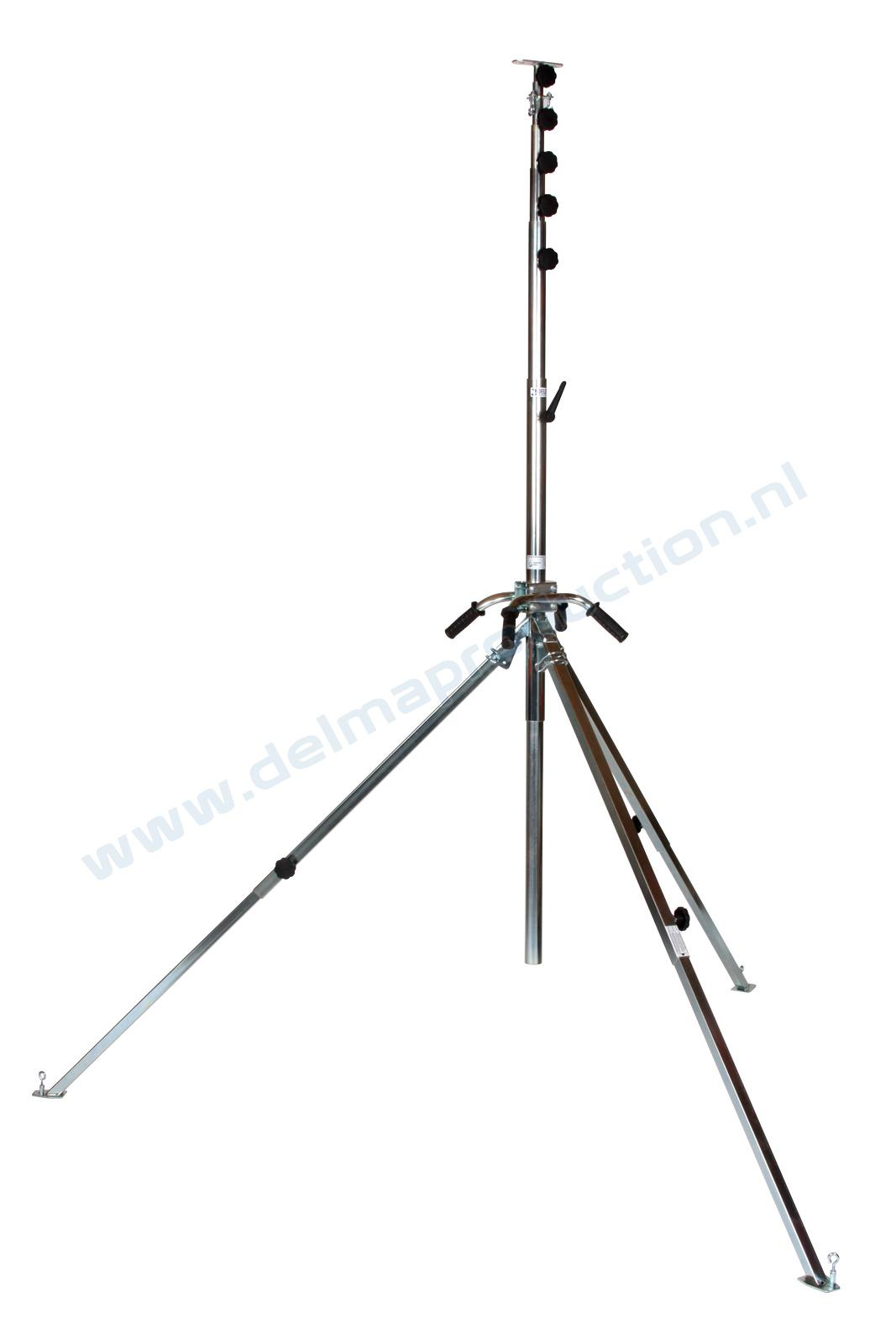 6-parts tripod stand, adjustable undercarriage, quick change system with bracket + M8  (1)