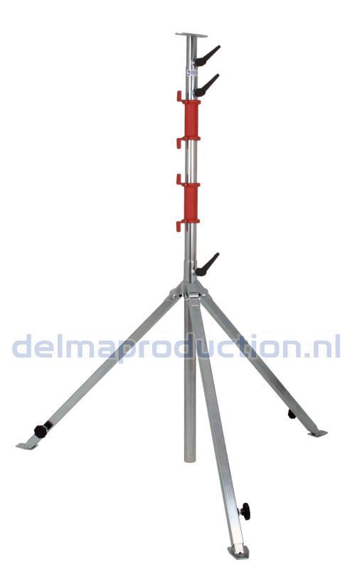 Bau-Teleskop-Stativ 4-teilig, verstellbares Fußgestell