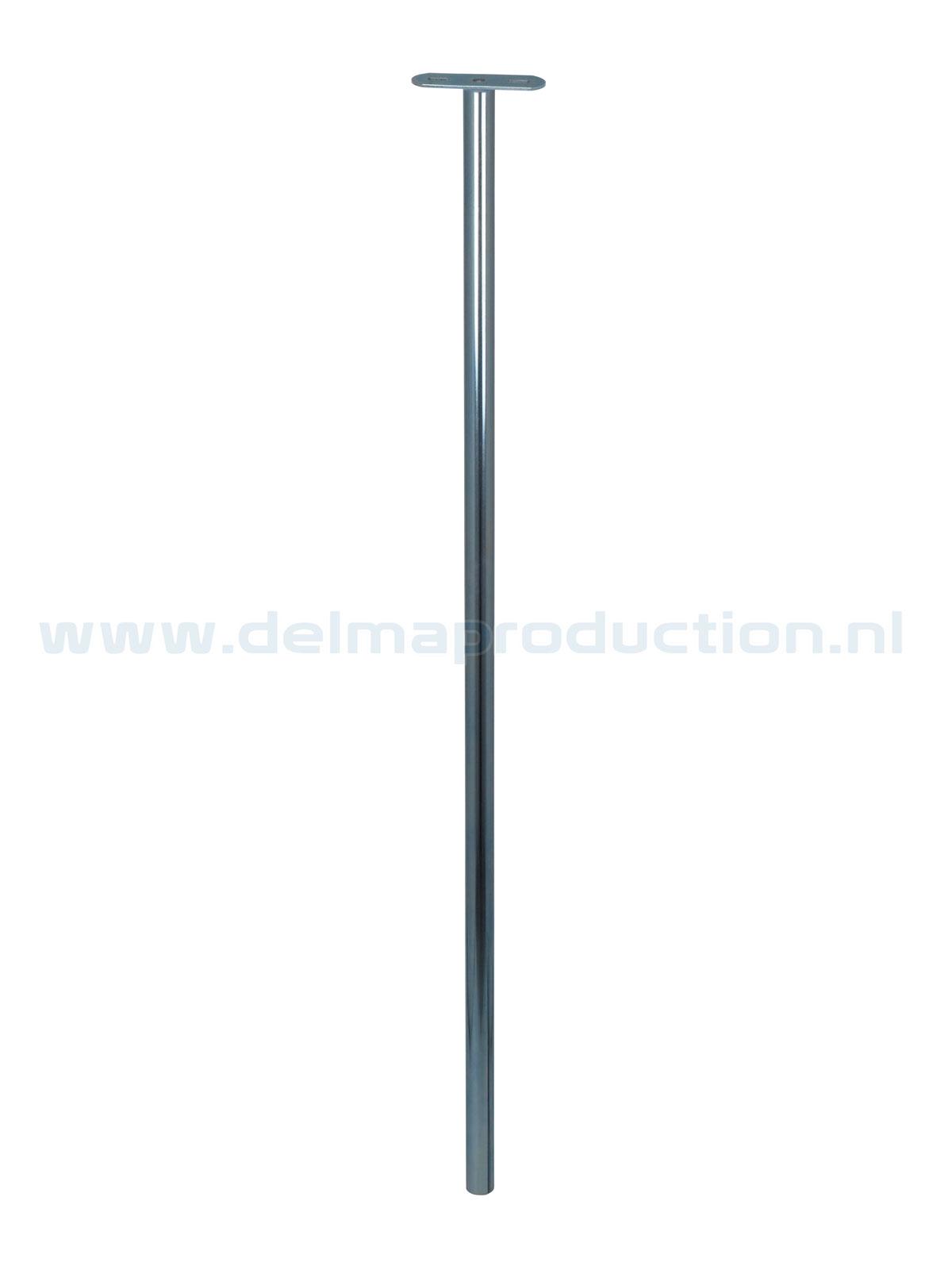 Binnenbuis statief 1,2 m Ø 30 met strip en M8