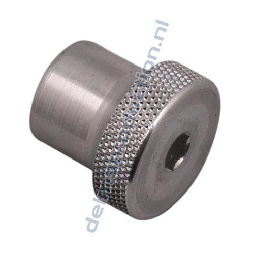 Aluminium knop M10 voor steenklem