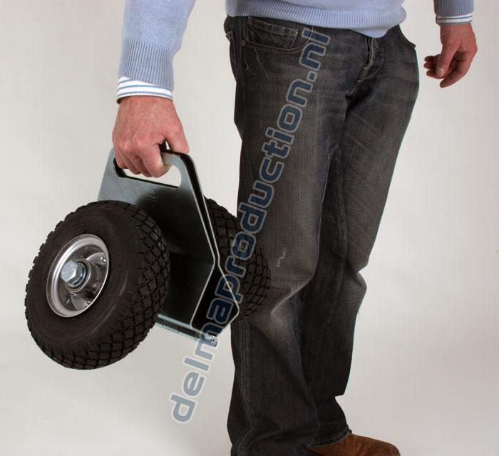 Platenklemwagen met polyurethaan wielen (3)