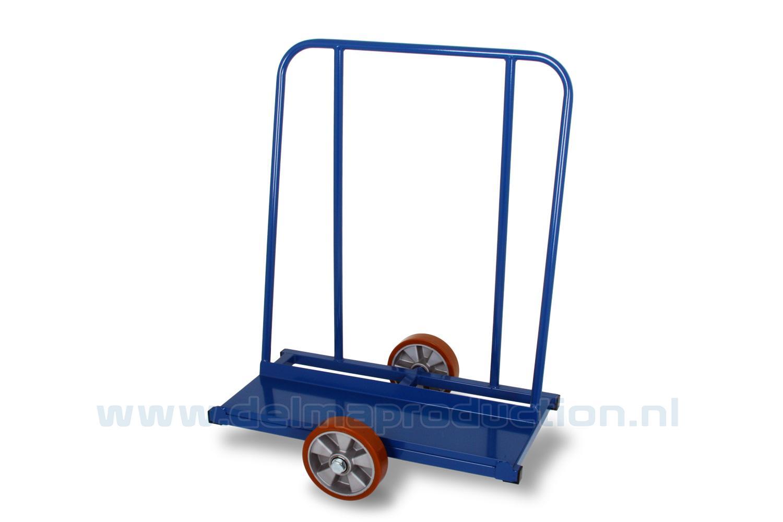 Platenwagen met polyurethaan wielen 600 kg (1)