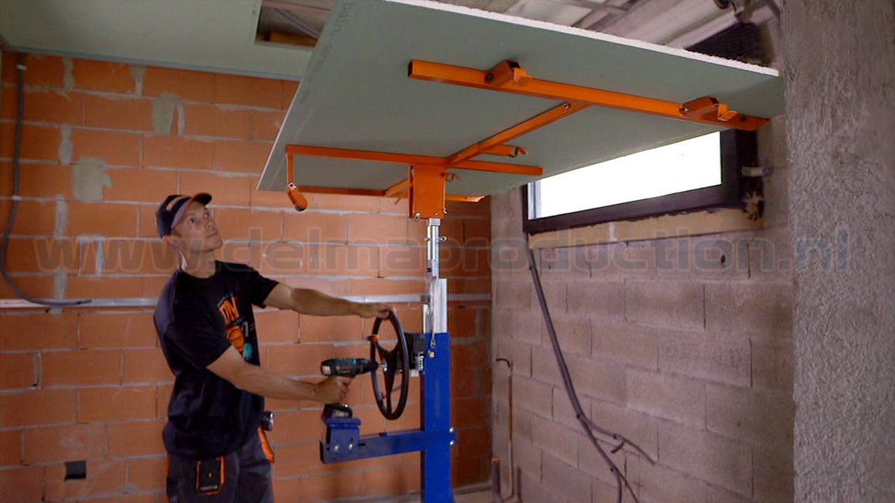 Drywall panel lift, SEA-450 semi automatic (7)