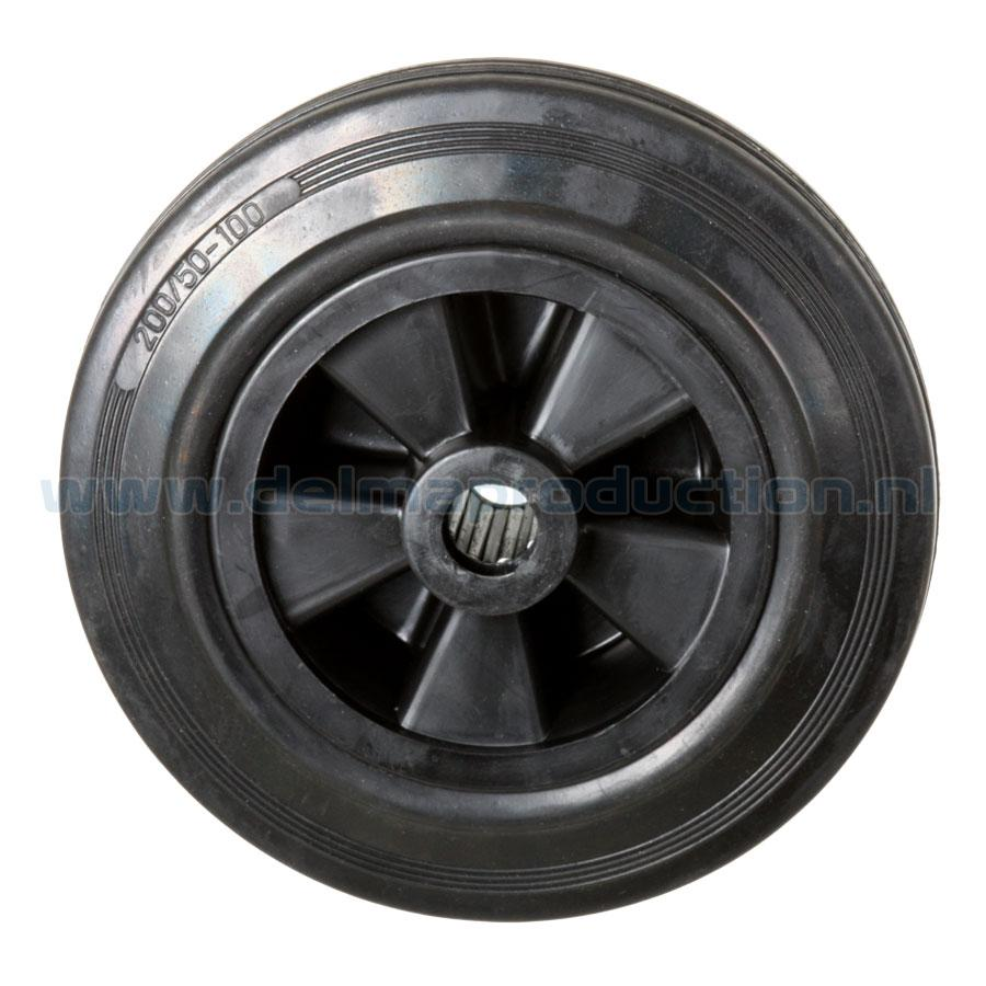 Rubber Wheel with plastic rim to fit Delma Trolley carts